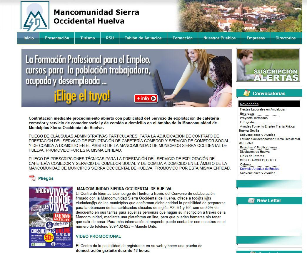 Mancomunidad sierra occidental de huelva for Oficina del consumidor huelva